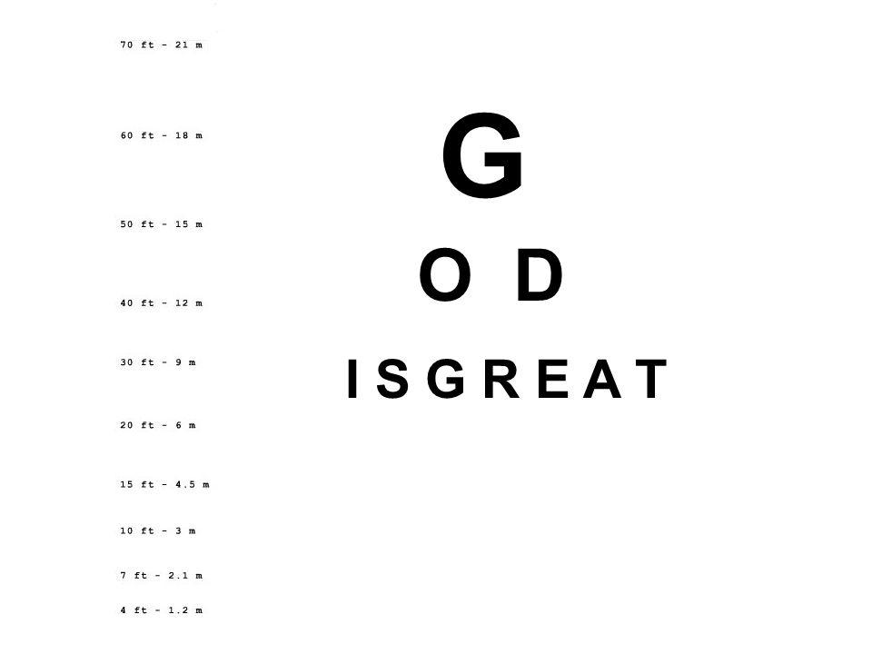 G O D I S G R E A T