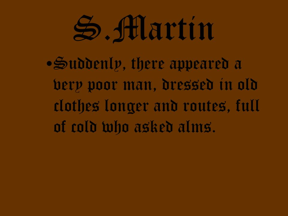 S.Martin Unfortunately, Martin had nothing to give.