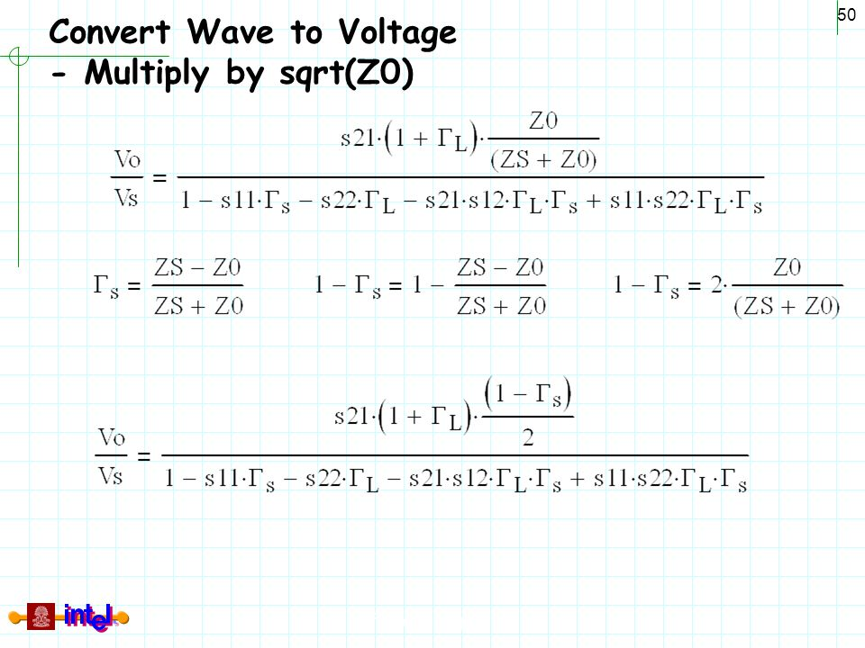 Differential Signaling 50 Convert Wave to Voltage - Multiply by sqrt(Z0)