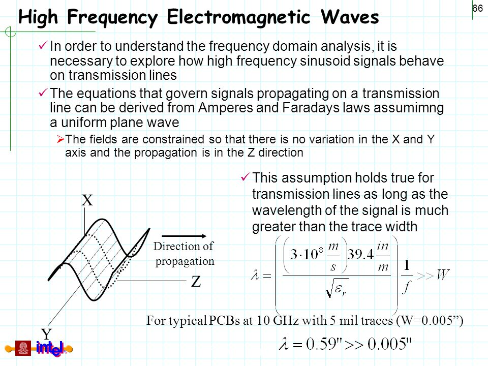 Differential Signaling 66 High Frequency Electromagnetic Waves In order to understand the frequency domain analysis, it is necessary to explore how hi