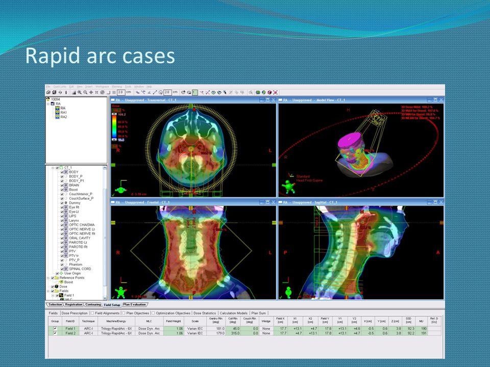 Rapid arc cases
