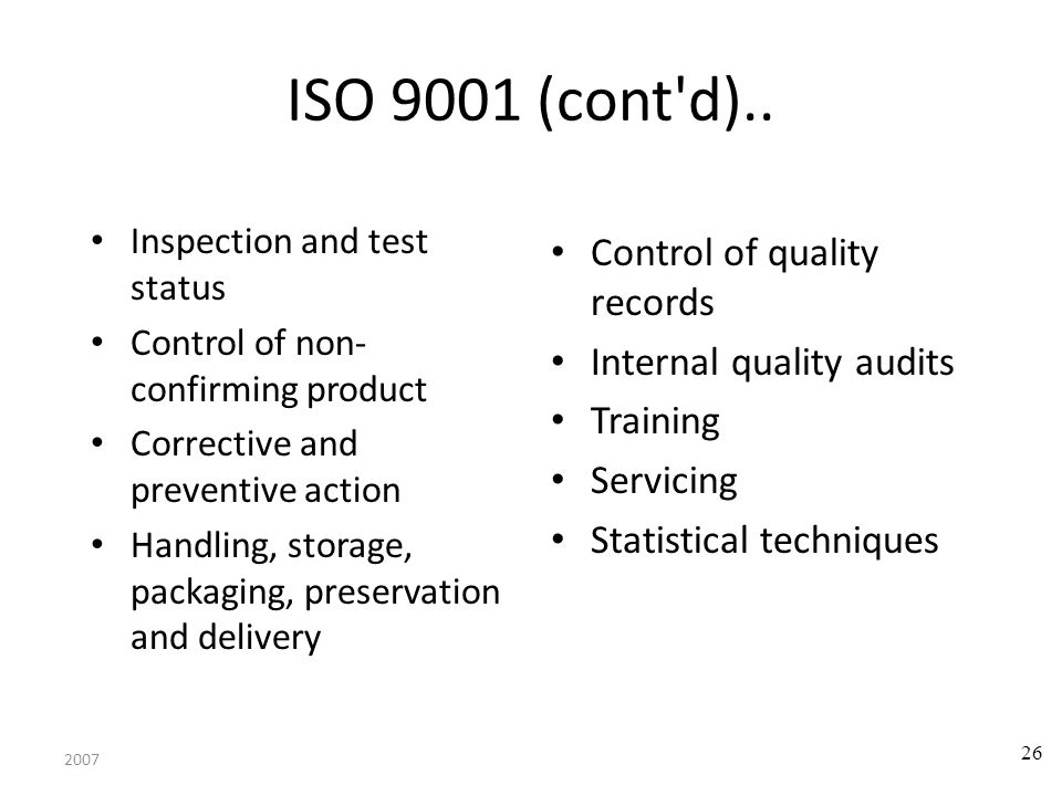 2007 27 Summary- SQA must be applied at each step SQA might be complex Software reviews are important SQA activities Statistical SQA helps improve product quality and software process Software Safety is essential for critical systems ISO 9001 standardizes the SQA activities