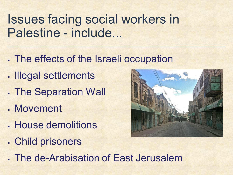 Children's rights  DCI conference, Al-Najah University, Nablus  Qurtuba School, Hebron  Ofer Military Court, Juvenile Session  Treatment & Rehabilitation Centre for the Victims of Torture
