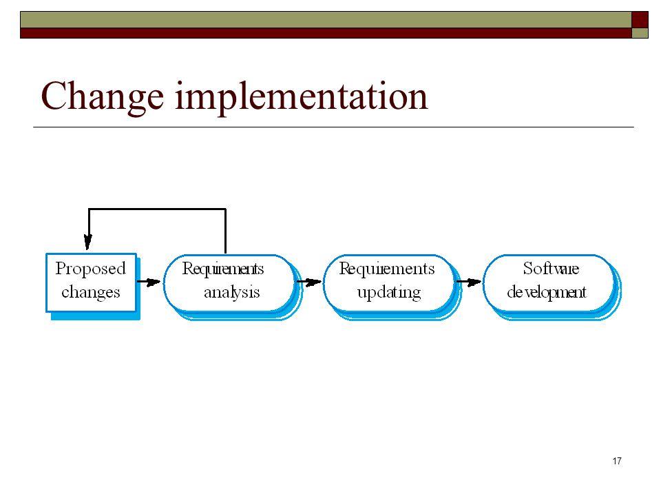 17 Change implementation