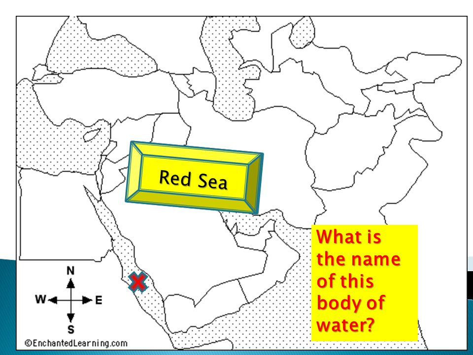 What is the name of this body of water Red Sea