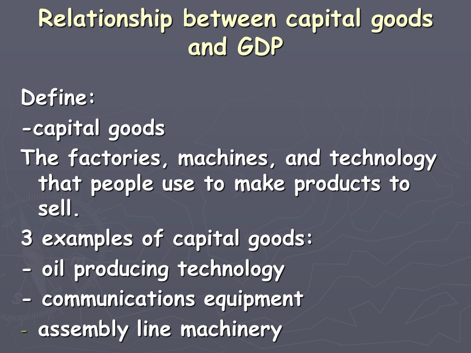 Relationship between capital goods and GDP Companies that invest in capital goods are more__________.