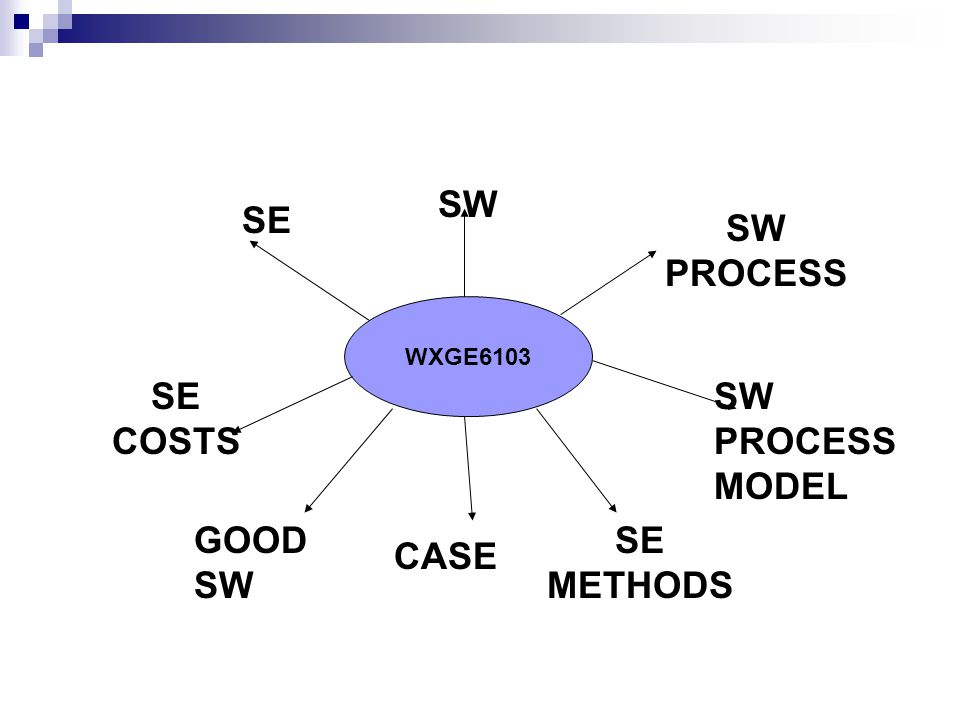 WXGE6103 SW SE SW PROCESS SW PROCESS MODEL SE COSTS SE METHODS CASE GOOD SW