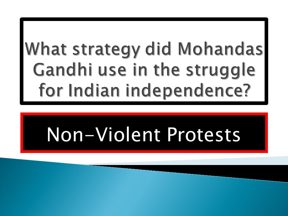Non-Violent Protests