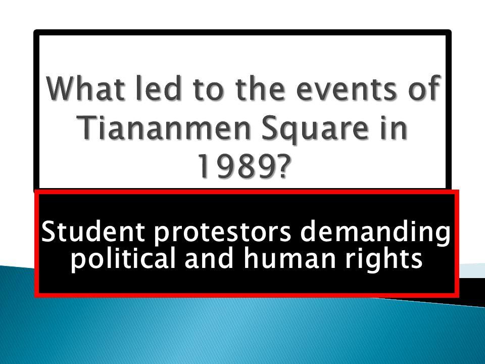 Student protestors demanding political and human rights