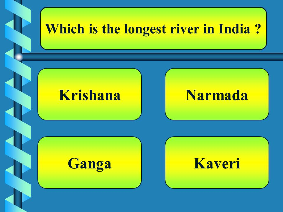Which is the longest river in India Krishana Kaveri Narmada Ganga
