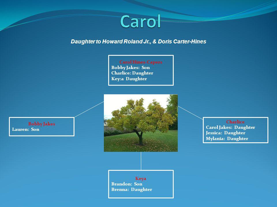 Charlice Carol Jakes: Daughter Jessica: Daughter Mylania: Daughter Bobby Jakes Lauren: Son Carol Hines-Capers Bobby Jakes: Son Charlice: Daughter Key: