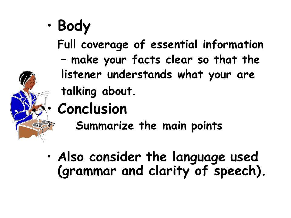 VISUAL AIDS ( All presentations require a visual component.)