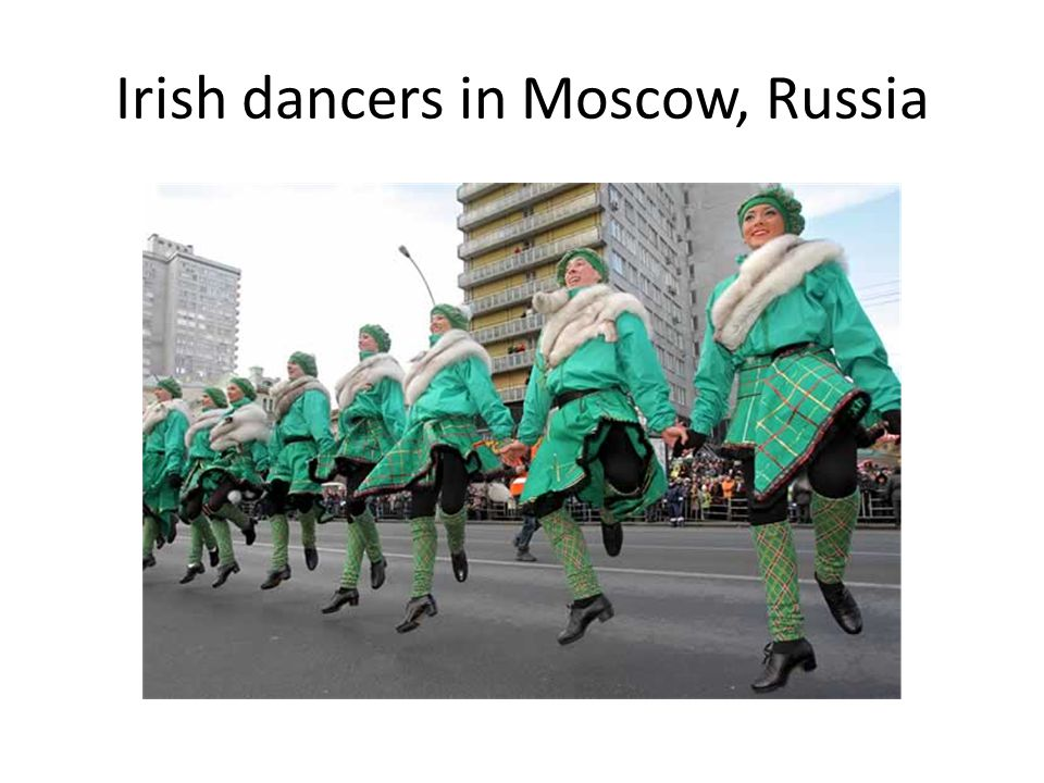 Irish dancers in Moscow, Russia