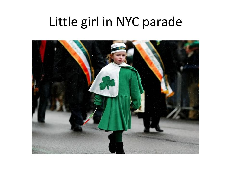 Little girl in NYC parade