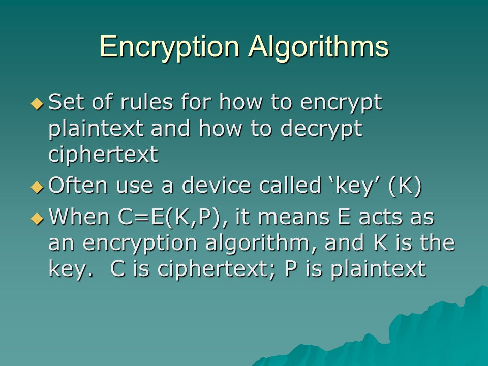 Comparison Secret key (Symmetric) Public Key (Asymmetric) Number of Keys 12 Protection of key Must be kept secret One key must be kept secret, the other can be freely exposed Best uses Cryptographic workhorse; secrecy and integrity of data – single characters to blocks of data, messages, files Key exchange, authentication Key distribution Must be out-of-hand Public key can be used to distribute other keys SpeedFast Slow; typically, 10,000 times slower than secret key
