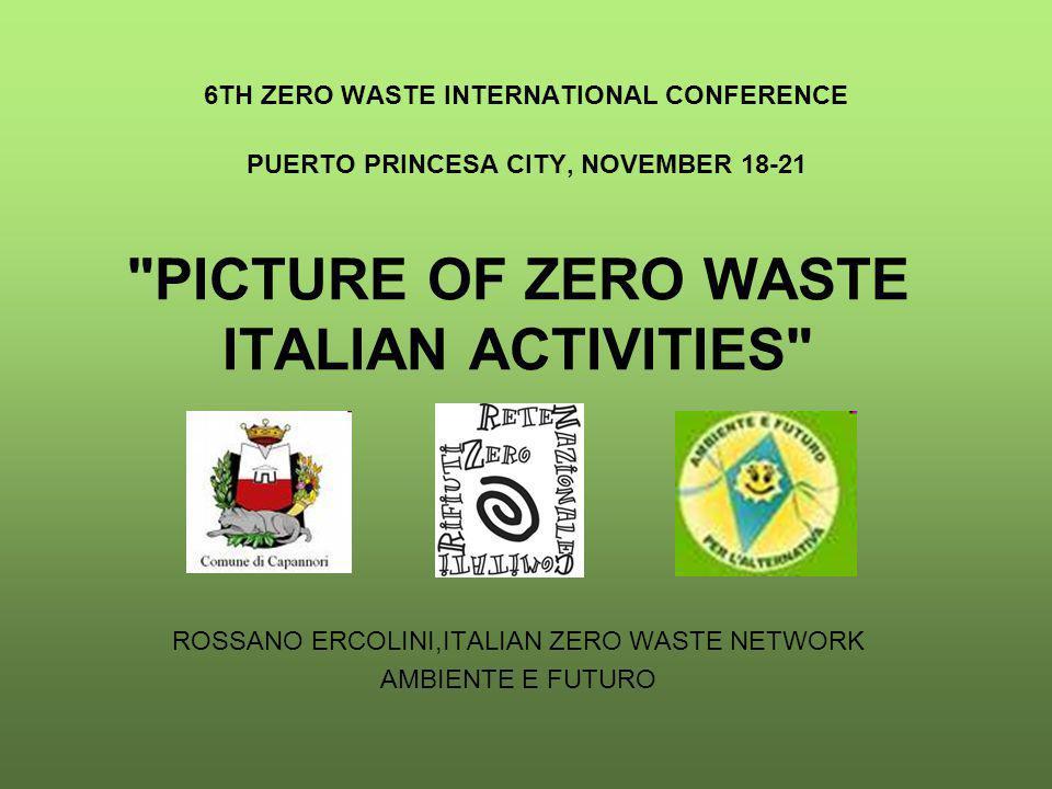 6TH ZERO WASTE INTERNATIONAL CONFERENCE PUERTO PRINCESA CITY, NOVEMBER 18-21