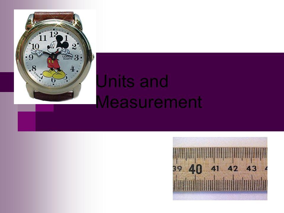 Units and Measurement