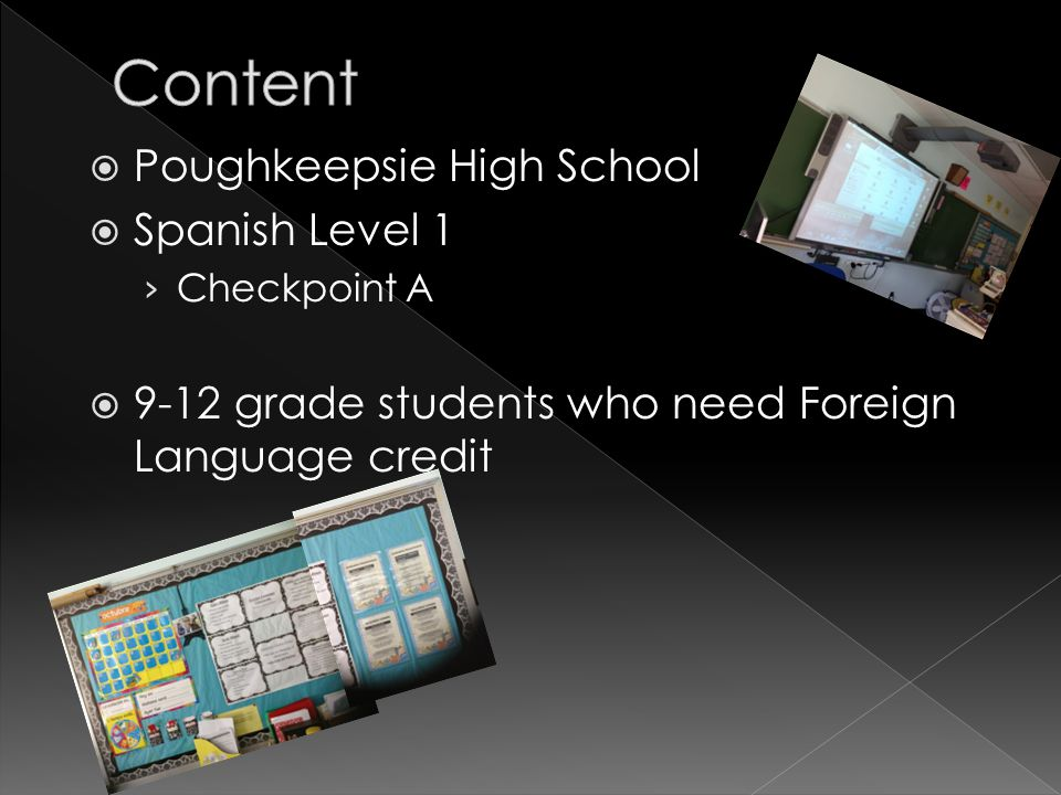 Poughkeepsie High School  Spanish Level 1 › Checkpoint A  9-12 grade students who need Foreign Language credit