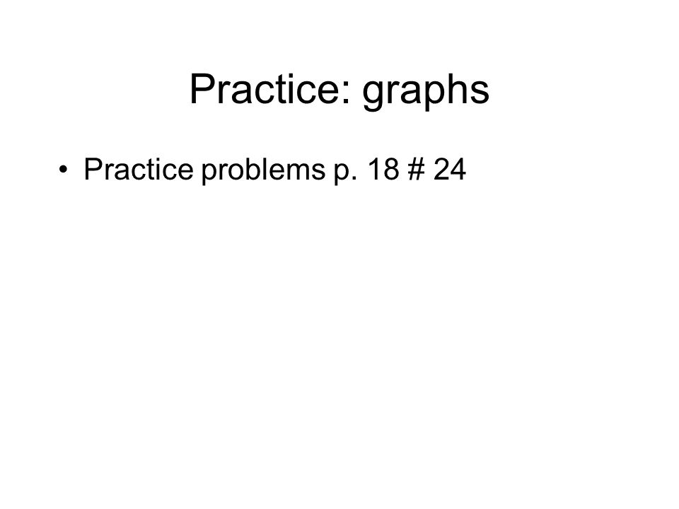 Practice: graphs Practice problems p. 18 # 24