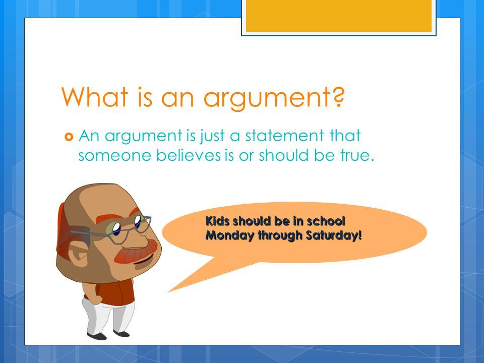  Agenda:  SSR  Warm-up  Mini-Lesson Objective DFMSSWBAT define argument, counterargument, and supporting argument an identify supporting arguments for a main argument.