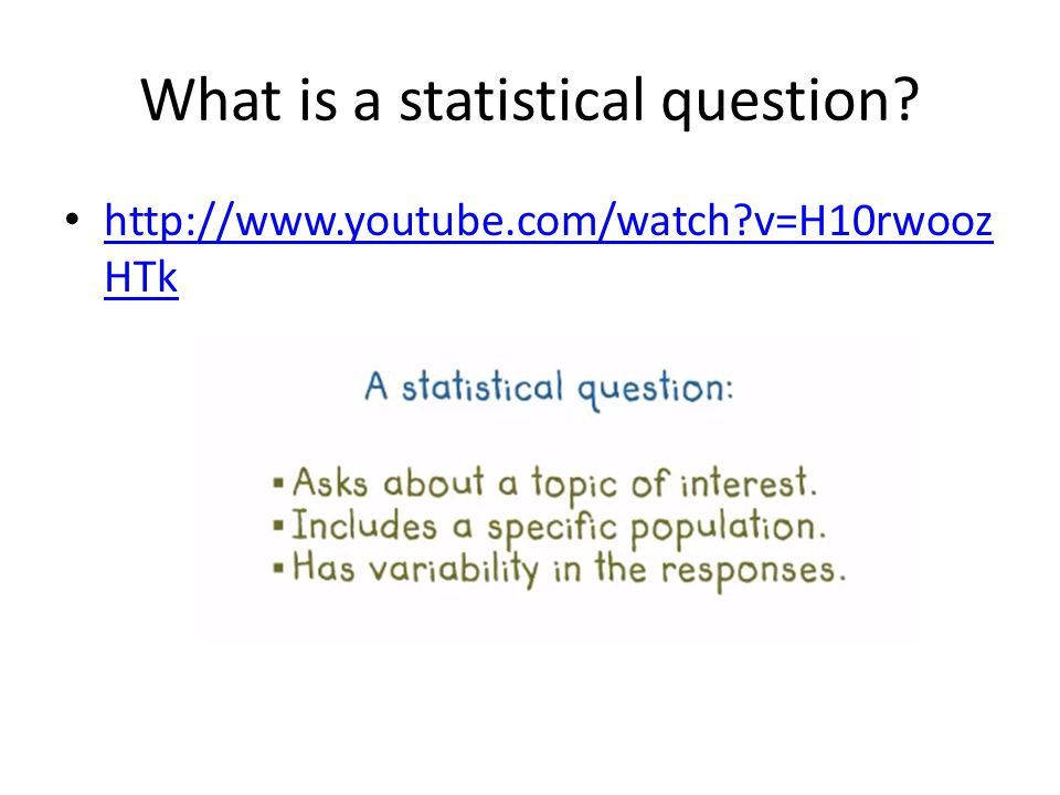 Finding a Statistical Question Label any questions on the strip as statistical using an S Let's discuss your results.