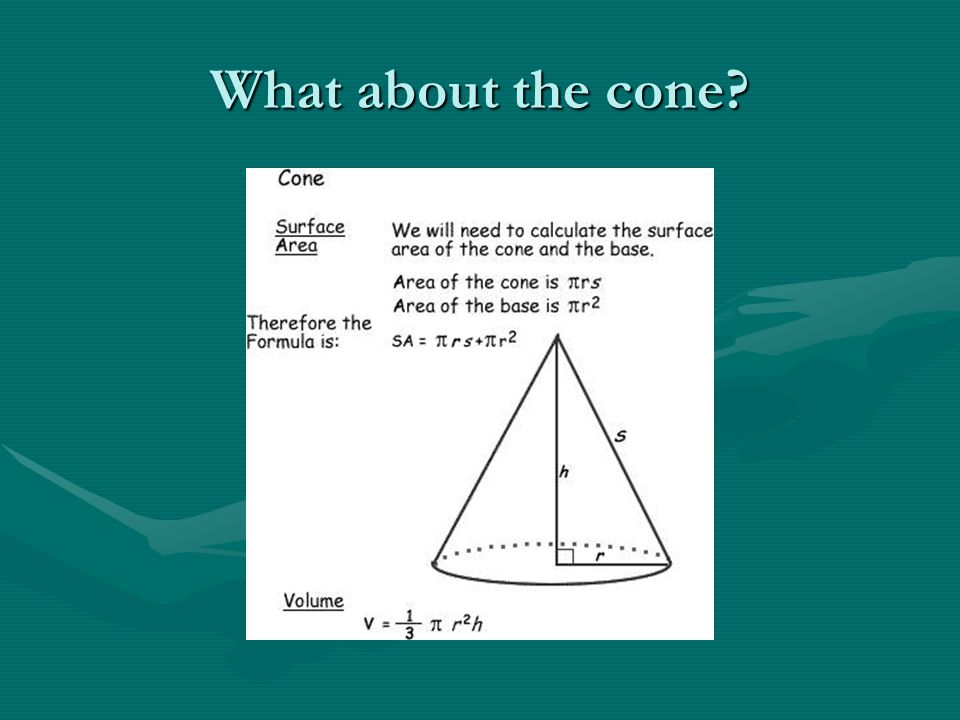 What about the cone?