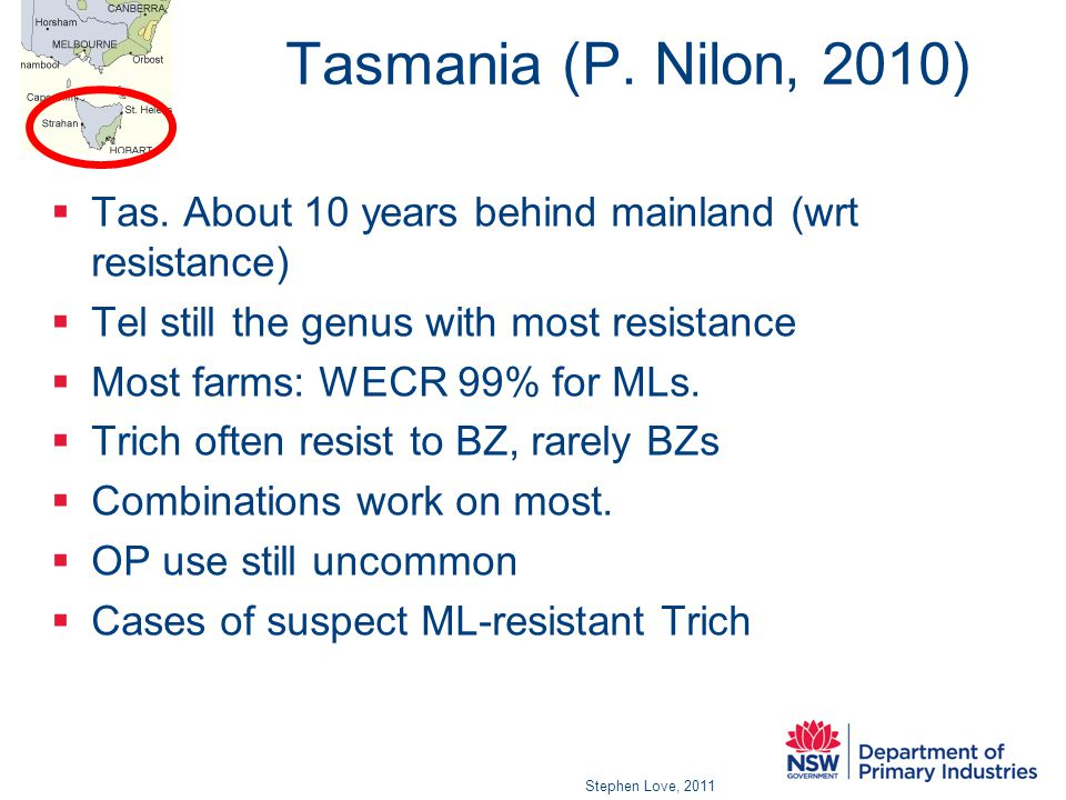 Tasmania (P. Nilon, 2010)  Tas.