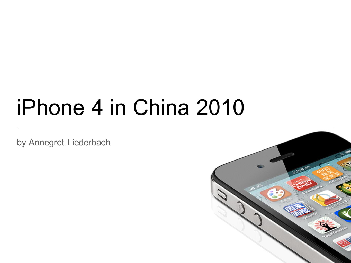 iPhone 4 in China 2010 by Annegret Liederbach