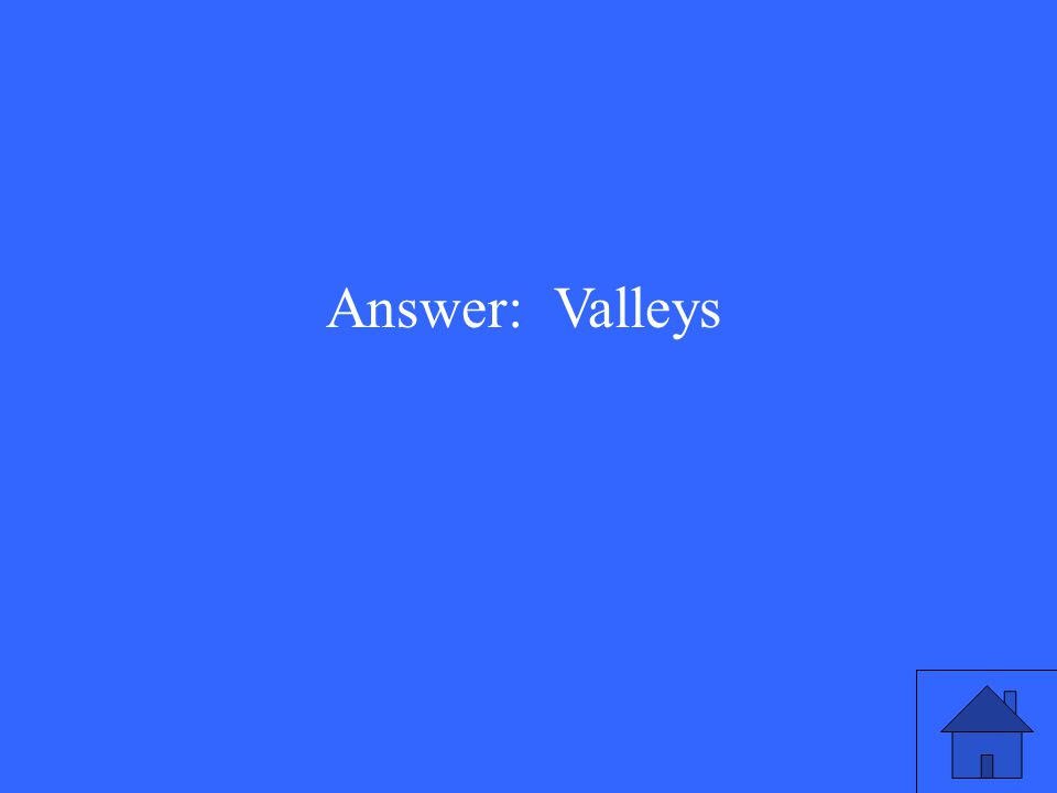 There is a symbol that represents a valley on a physical map.