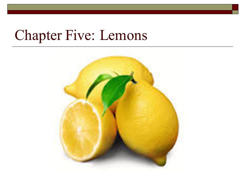 Chapter Five: Lemons