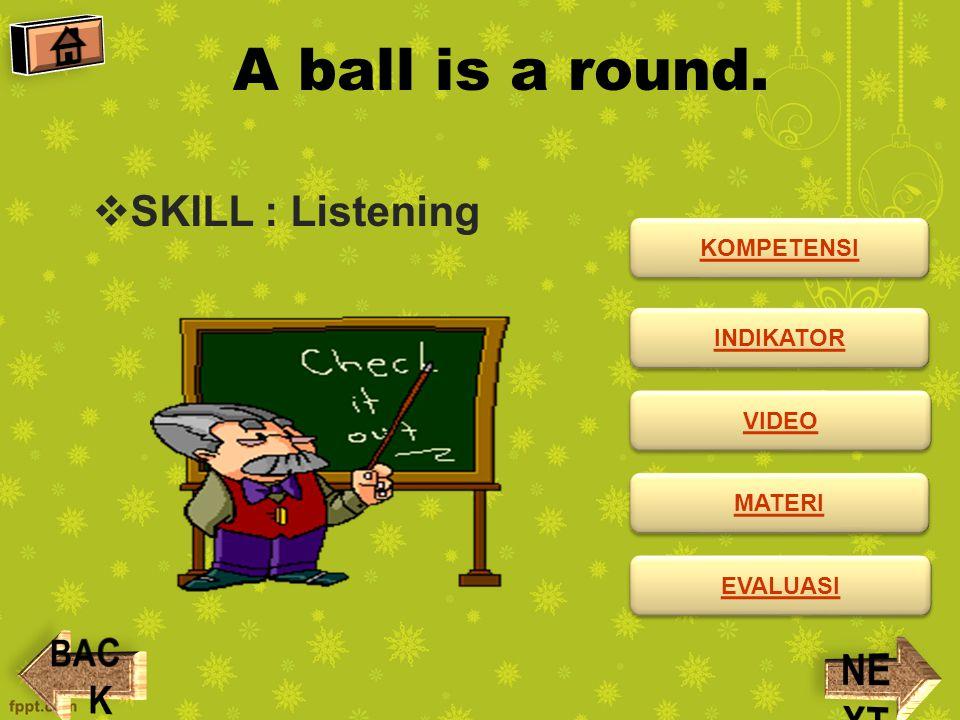 KOMPETENSI  Standar Kompetensi: Mendengarkan Memahami instruksi sangat sederhana dengan tindakan dalam konteks sekolah.