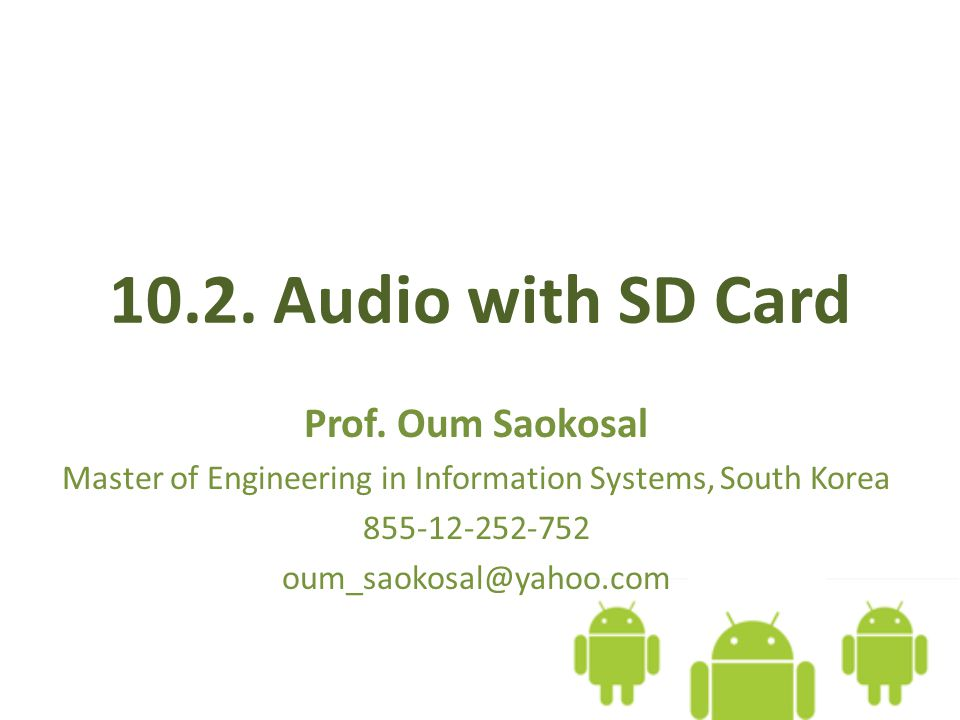 10.2. Audio with SD Card Prof.