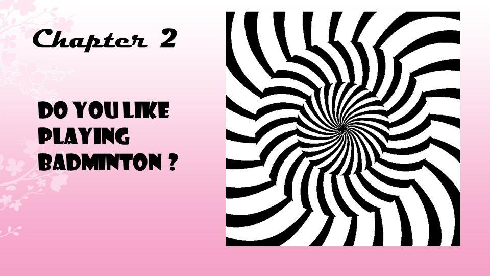 Chapter 2 DO YOU LIKE PLAYING BADMINTON ?