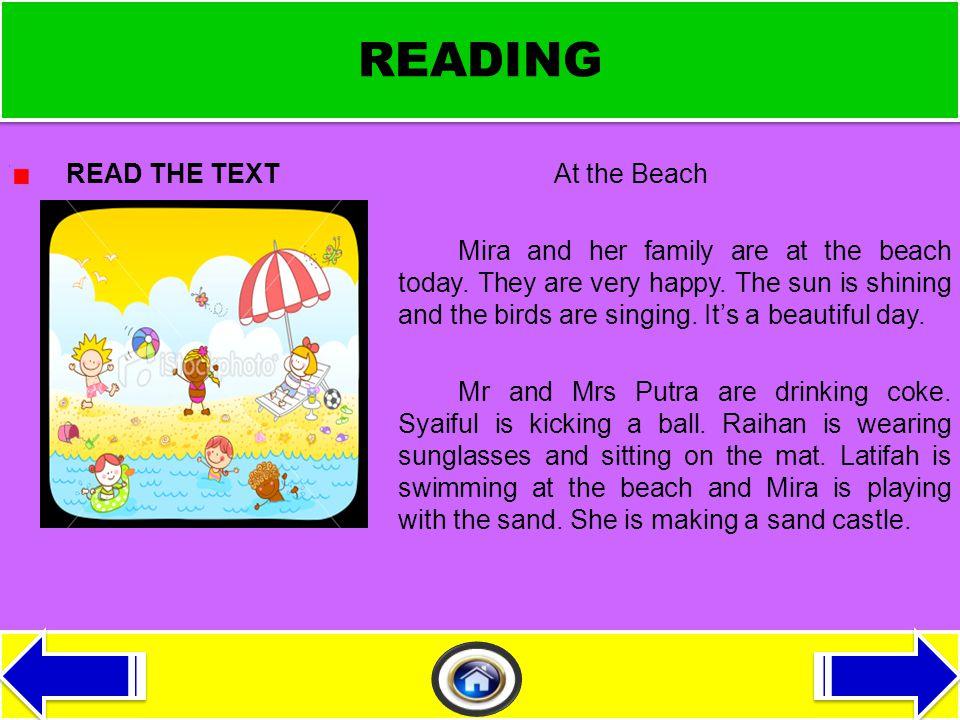 MATERI PEMBELAJARAN Reading Writing