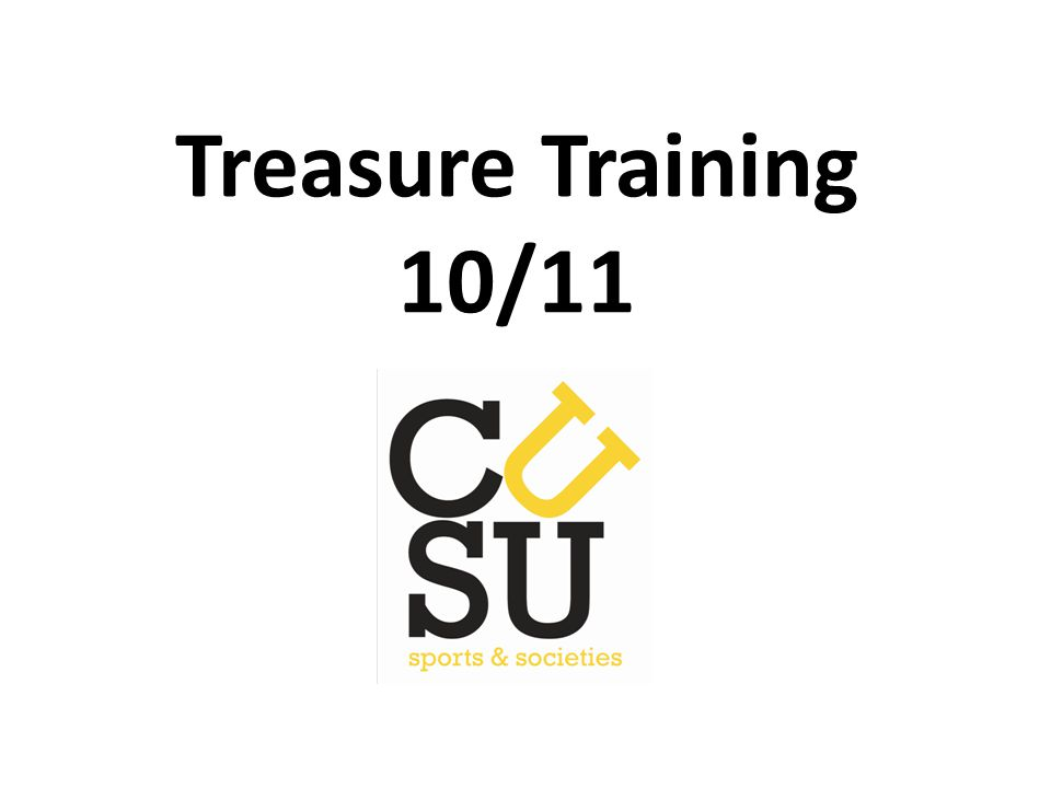 Treasure Training 10/11