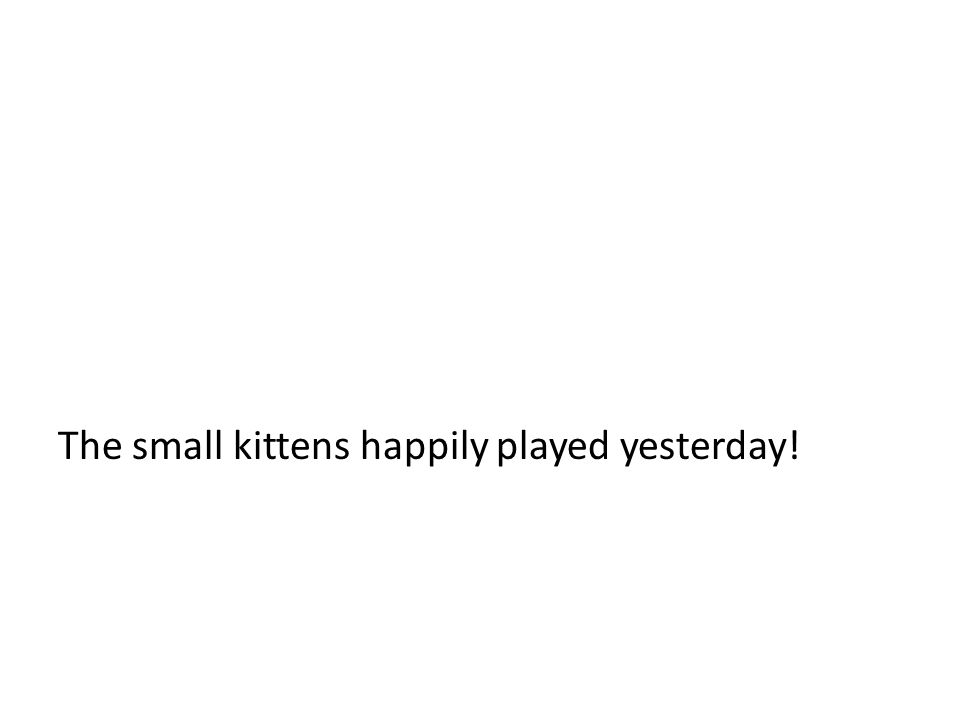 The small kittens happily played yesterday!