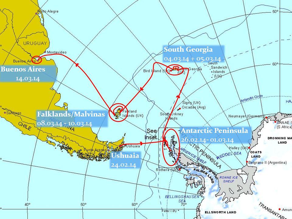 Port Lockroy 28.02.14 Half Moon 26.02.14 Neko Harbour & Cuverville Island 27.02.14 Base Brown Cruise 28.02.14 Lemaire Channel 28.02.14 Ships Cruise Entrance Deception 01-03-14