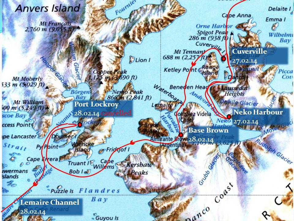 Fortuna 05.04.14 Strømness 05.03.14 Grytviken 04.03.14 Drygalski Fjord 04.03.14