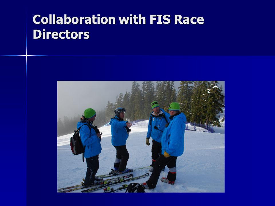 Collaboration with FIS Race Directors