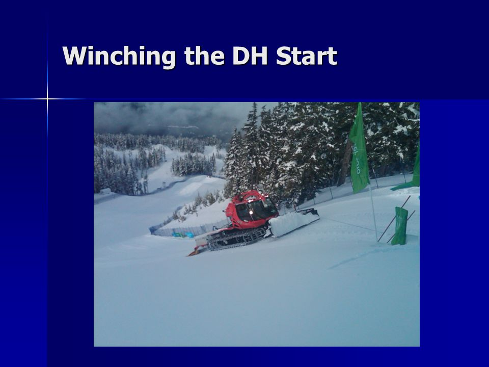 Winching the DH Start