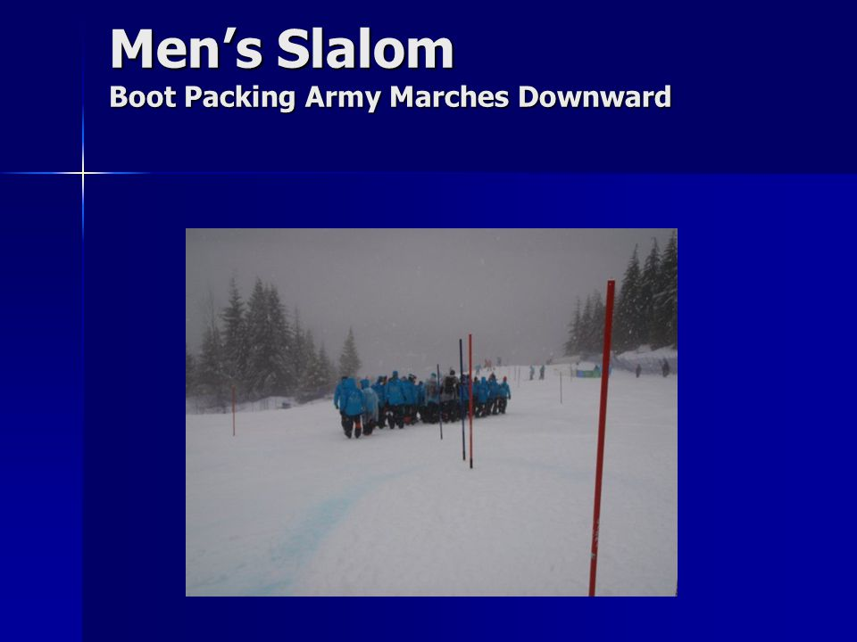Men's Slalom Boot Packing Army Marches Downward