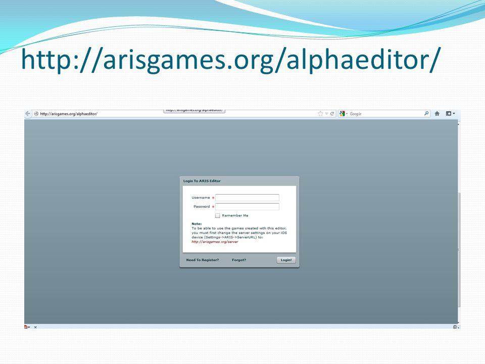 http://arisgames.org/alphaeditor/