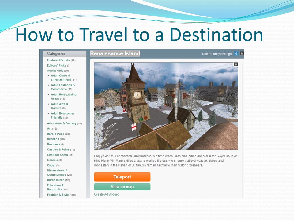 How to Travel to a Destination