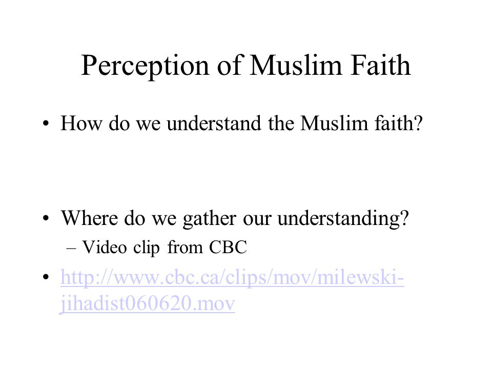 Our Objectives: 1.To demonstrate an understanding of the significance of studying other religions – Islam 2.To identify misconceptions that are found regarding Muslims 3.To demonstrate an understanding of the foundations of Islam