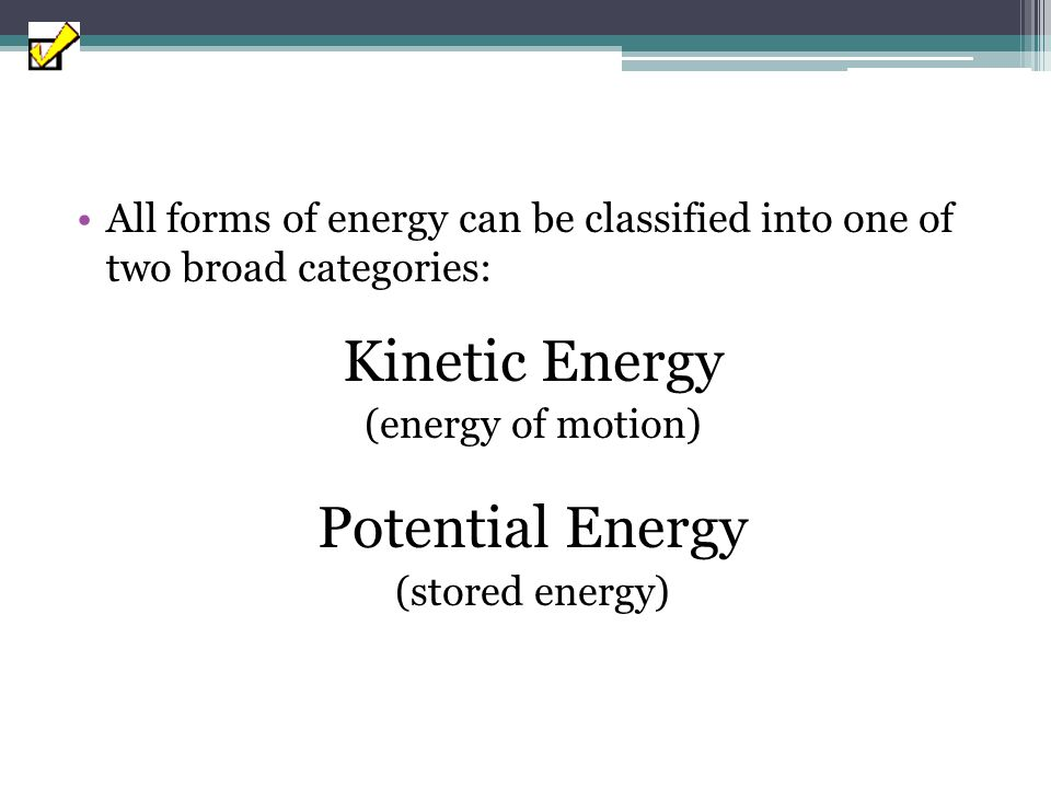 Work Energy transferred to an object over a distance WORK IS ENERGY GAINED OR LOST W=FΔd Where: W – Work (J) F – Magnitude of Force (N) d – distance (m)