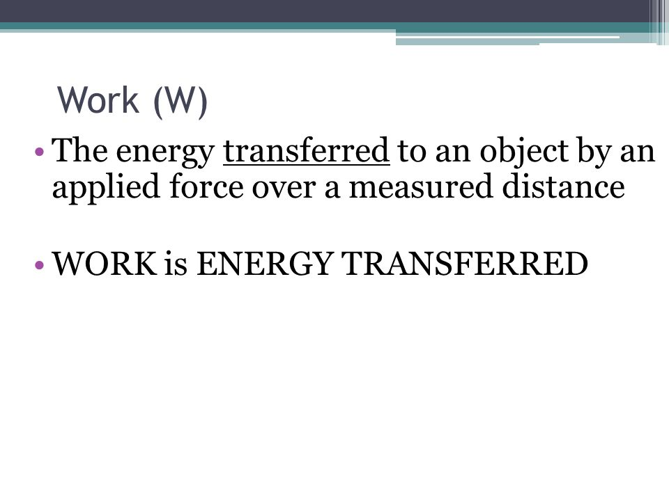 Negative Work If the force is opposite to the direction of the displacement (i.e.