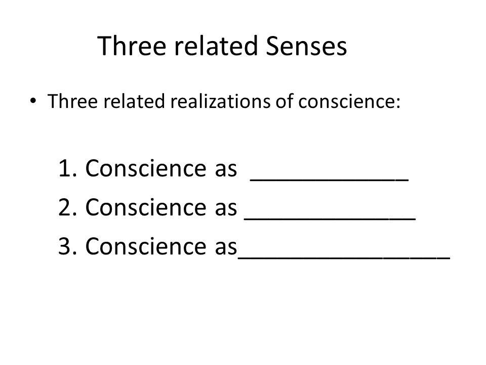 Symptoms of Misinformed Conscience 4.