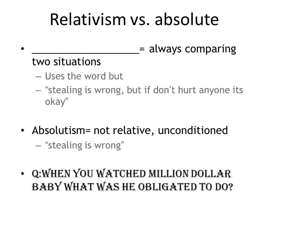 Relativism vs.
