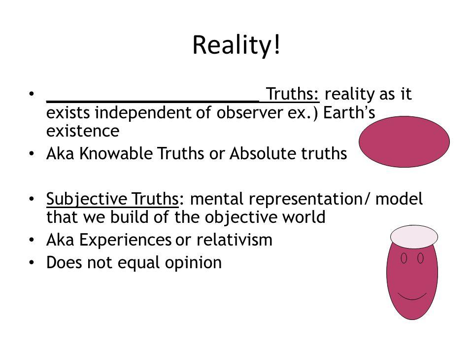Reality.