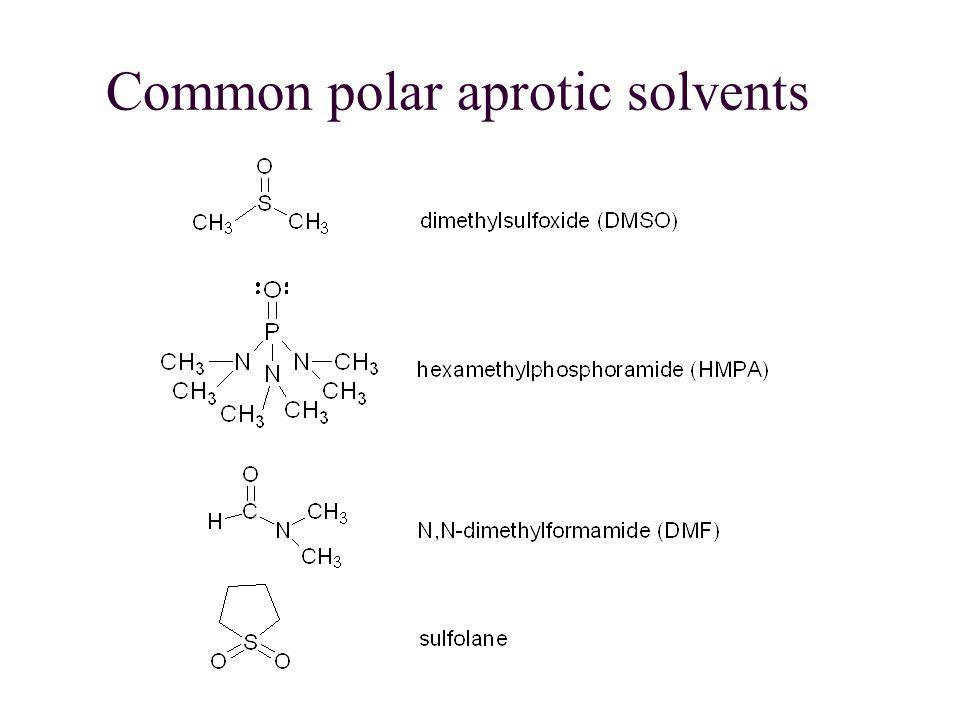 Common polar aprotic solvents